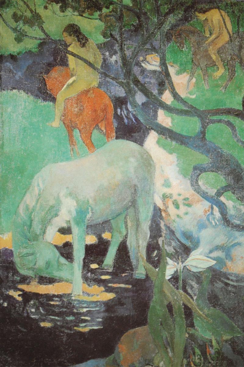 Il-cavallo-bianco-Gauguin-1898-Cheval-blanche-White-horse
