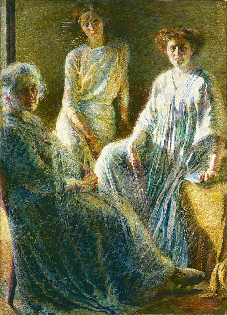 Umberto-Boccioni-Tre-donne-1909-10.-Milano-Collezione-Intesa-Sanpaolo-Gallerie-d'Italia-Piazza-Scala-